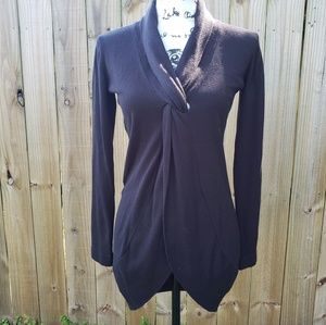 Tracy M Black Long Sleeves Sweater Size S